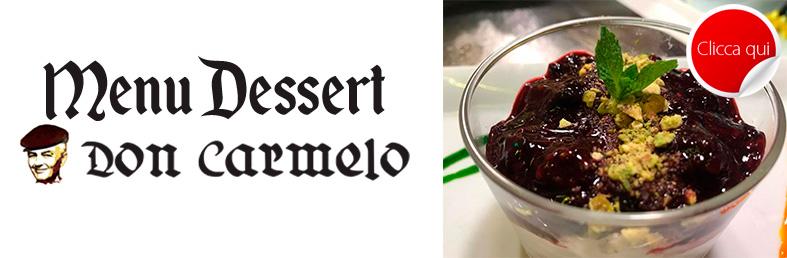 menu dessert don carmelo