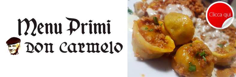 menu primi piatti don carmelo